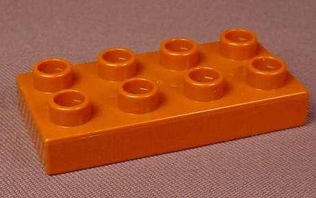 Lego Duplo 40666 Rust Brown 2X4 Plate, Zoo