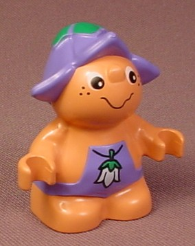 Lego Duplo 31232 Forest Friend Figure, Male, Medium Violet Purple Overalls