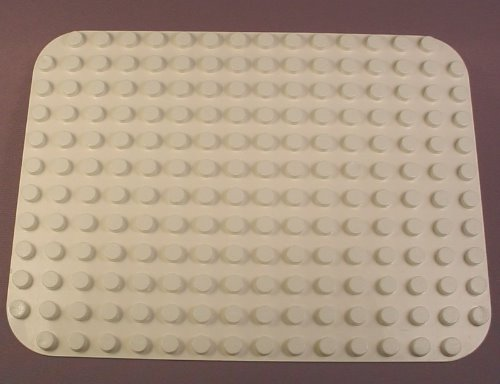 Lego Duplo 6851 White 12X16 Peg Baseplate With Rounded Corners, Base Plate