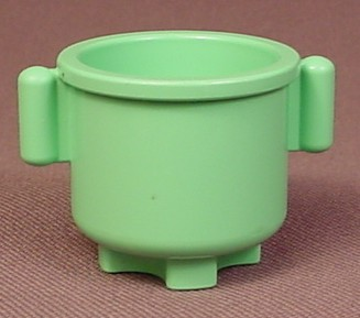 Lego Duplo 31042 Light Green Pot Or Kettle With 2 Handles, Figure Accessory