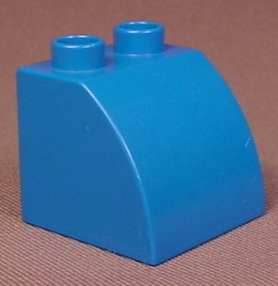 Lego Duplo 11170 Blue 2X2X1 1/2 Brick With A Curved Top, Creative Animals, Construction
