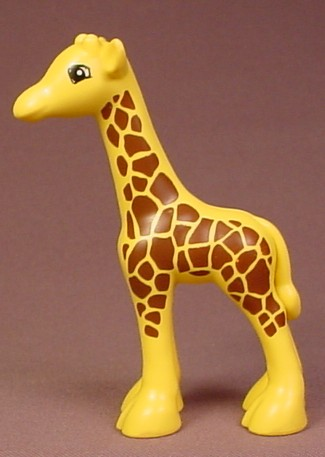 Lego Duplo 2278 Baby Giraffe Animal Figure With Dense Brown Spots Pattern, 4 Inches Tall