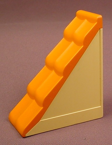 Lego Duplo 31030 Light Yellow 2X4 Roof Section With Orange Shingles, Bob The Builder