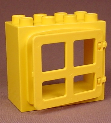 Lego Duplo 2332 Yellow Door Or Window Frame With A Raised Rim And A 2206 Yellow Door