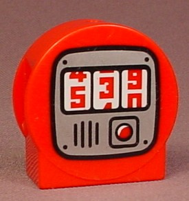 Lego Duplo 13796 Red 1X3X2 Round Top Brick With Meter & Numbers Pattern, Disney Planes