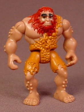 Fisher Price Imaginext Caveman Figure With Reddish Brown Hair, 2 3/8 Inches Tall