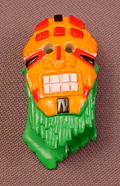 Fisher Price Imaginext Orange & Green Witch Doctor Mask Cowl, C6998 Phantom Island