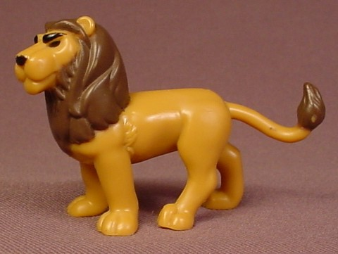 Fisher Price Imaginext Male Lion Animal Figure, 2 3/4 Inches Long, 78365 King Braveheart Set