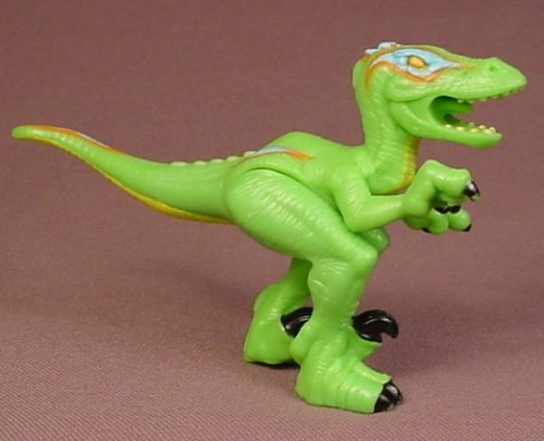 Fisher Price Imaginext Green Shred The Raptor Dinosaur Animal Figure, 2 3/4 Inches Tall