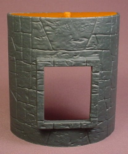 Fisher Price Imaginext Dark Blue Stone Semi Circle Castle Wall With Window Opening