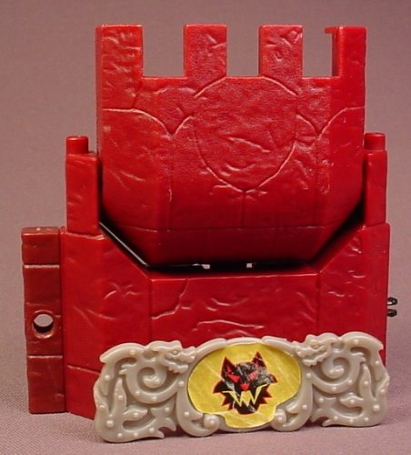 Fisher Price Imaginext Deep Purple Stone Castle Battlement With Target, Wall Collapses