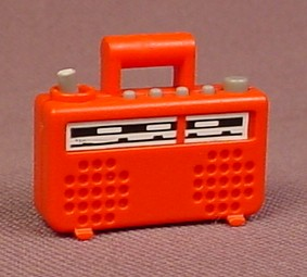 Playmobil Red & Gray Radio, 3460 3495 3728 3771, The Exterior Red Case Is  30 60 5480