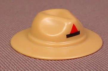20145ce7c80 Playmobil Tan Or Light Brown Stetson Hat With Creases And A Black And Red  Emblem On The Front - RONS RESCUED TREASURES