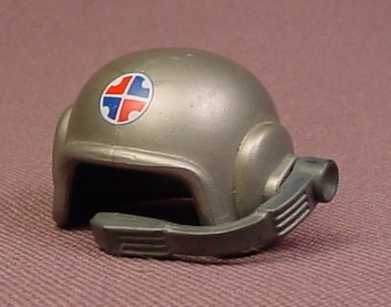 Playmobil Silver Gray Submariner's Helmet With A Logo & Microphone, 3064 3370, Grey