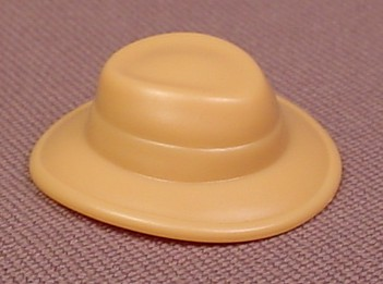 Playmobil Tan Hat With A Wide Brim That Turns Down Slightly In The Front & Back, 6132, 30 23 4623
