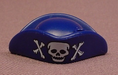 Playmobil Dark Blue Pirate Tricorne Hat With A White Skull & Crosses Bones On The Front, 4654