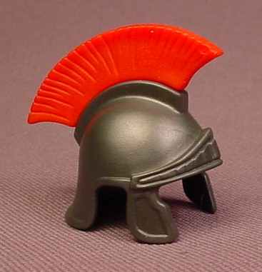 Playmobil Dark Gray Roman Helmet With A Removable Red Feather Crest, 4270 4276 4278