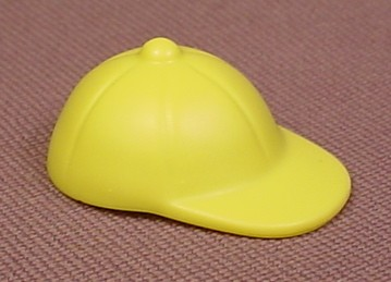 Playmobil Light Yellow Round Baseball Style Cap Or Hat With A Button On Top, 5261, 30 24 7092