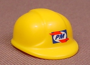 Playmobil Yellow Modern Construction Helmet With A P&M Logo On The Front, 5253 5254, 30 63 9073