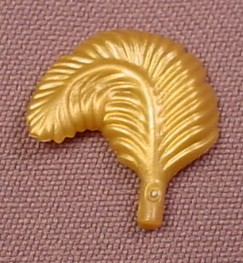 Playmobil Gold Wide Curved Feather, 3286 3940 4007 4249 4333 4424 4893 5040 5063 5142 5206 5217