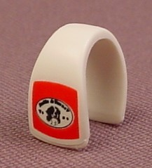 Playmobil Small White & Red Dog Blanket That Fits On A Rescue Unit German Shepherd, 4227, 30 63 1222