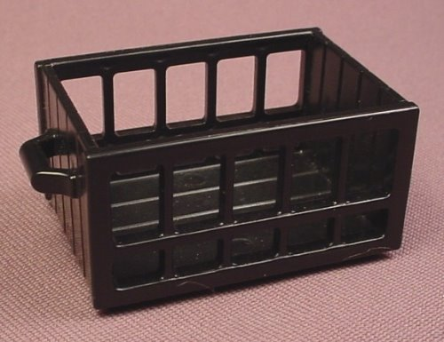 Playmobil Black Crate With Slatted Sides & 2 Handles, 3217 5746, 30 23 7290