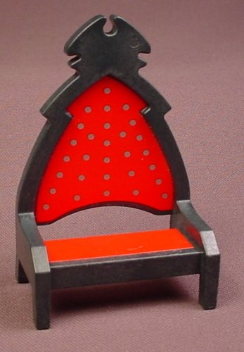 Playmobil Black Throne With Points On Top And A Red Seat & Back With Silver Dots, 3269, 30 21 2800