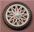 Playmobil Bicycle Wheel With Gray Spoked Rim, 3712 4157 4168 4280 4417 4857 5798 5928 6396
