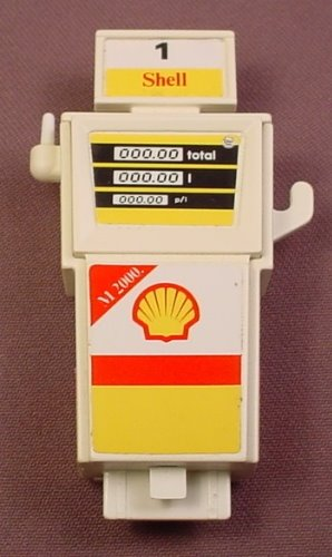 Playmobil Complete Gas Pump With The Shell & Yellow Stickers Applied, 3437 3439, 30 60 4360