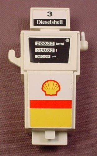 Playmobil Complete Gas Pump With The Shell & Black Stickers Applied, 3437 3439, 30 60 4360