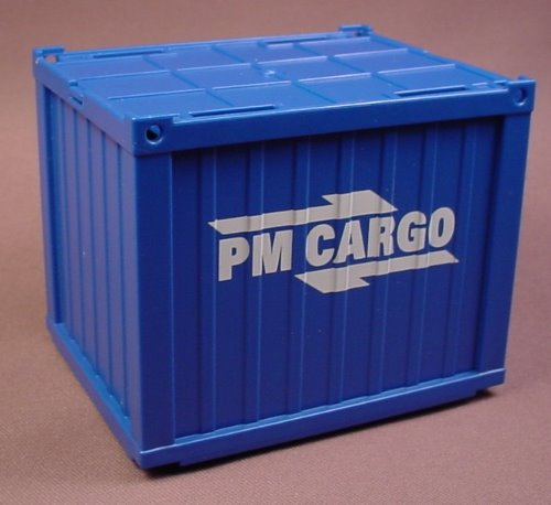Playmobil Large Blue Shipping Or Airport Cargo Container With A Removable Roof, 5258 5253
