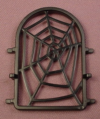 Playmobil Black Arched Top Window With A Spider Web, 3274 3899 5782 5861 5919, Arch, 30 02 5690