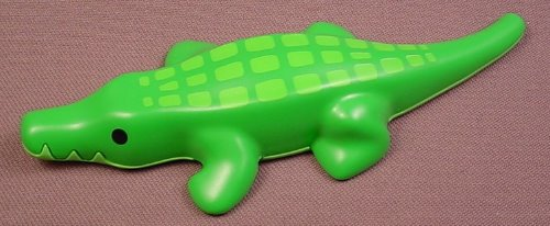 Playmobil 123 Green Alligator Or Crocodile Animal Figure With Bright Green Scales, 5047 6744