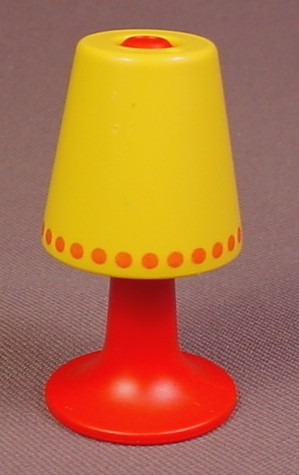 Playmobil 123 Red & Yellow Lamp, 6610, 2 Inches Tall, Furniture