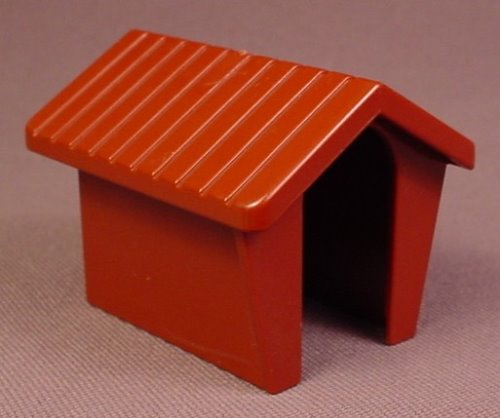 Playmobil 123 Reddish Brown Doghouse, 5058 5791 6740 6750 6784 6800 6804, Dog House, 60 02 0130