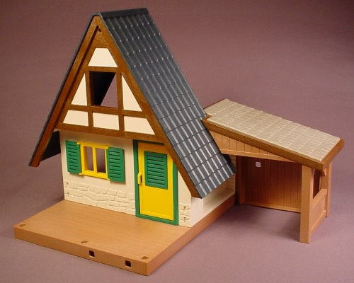 Playmobil Forest Lodge Building Or House With Stable, Only The Items Pictured Are Included 4207 5004