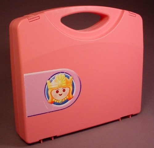 Playmobil 5892 Pink Carrying Case Box With A Princess Sticker, 9 3/4 Inches Long