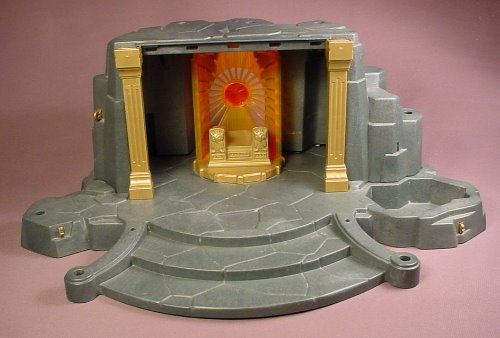 Playmobil 3841 7774 Rock Temple Base & Cave With Altar, The Rock Base Is 16 Inches Long