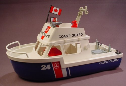 Playmobil 3599 Coast Guard Boat, 12 3/4 Inches Long