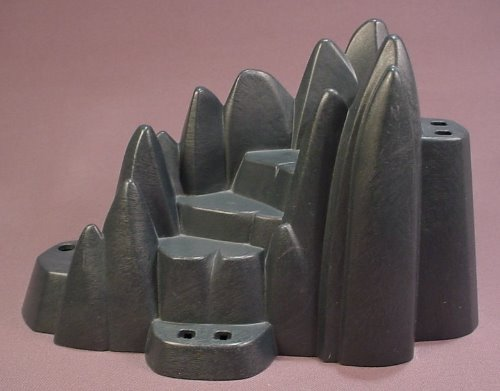 Playmobil Dark Gray Rock Formation With A Staircase Steps, 8 1/2 Inches Long, 3151 4433 5003