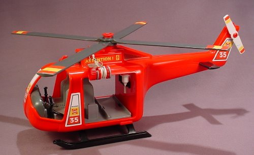Rons Playmobil 4428 Helicopter15 Fire 12 Rescue Inches Long Red E29WDIH