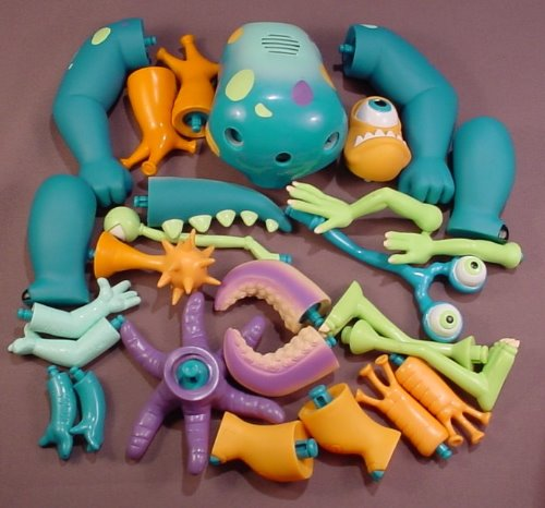 27 Piece Disney Monsters Inc Build Your Own Monster Set, Mix And Match To Build Your Own Monster