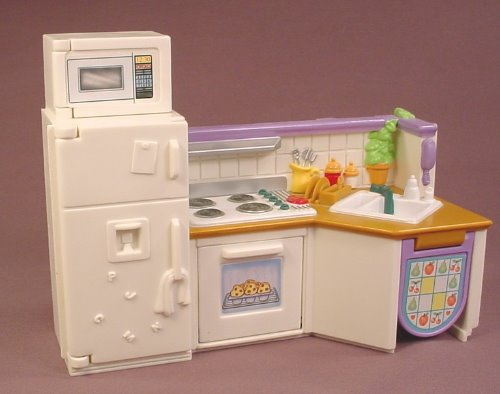 Fisher Price Loving Family Dollhouse 2001 Home U0026 Stable Replacement Kitchen  Center 75246