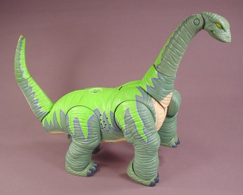 Fisher Price Imaginext Thunder The Brontosaurus Dinosaur, 18 Inches Long, Makes A Roaring Sound
