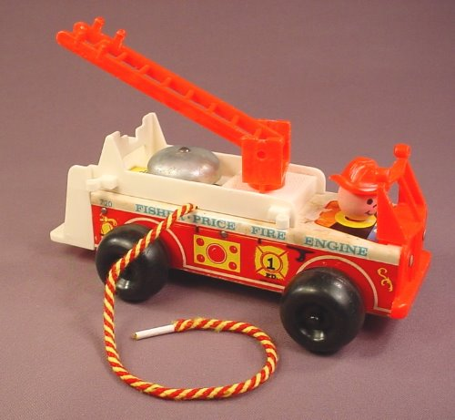 Fisher Price Vintage 1968 720 Fire Engine Truck With A