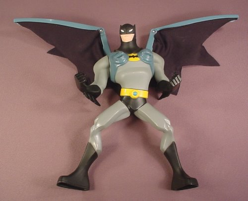 Batman EXP Extreme Power 10 Inch Tall Action Figure With Fold Up Cloth Wings, 2006 Mattel