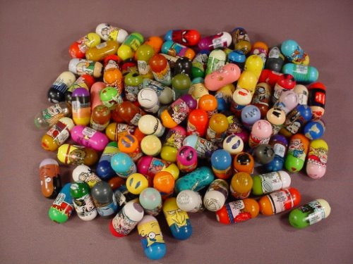 Mighty Beanz Mixed Lot Of 100, Group B, In Used Condition With Some Rubs Or Marks, Jumping Beans