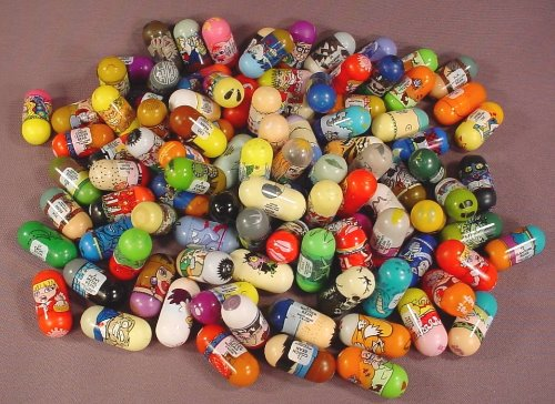 Mighty Beanz Mixed Lot Of 100, Group D, In Used Condition With Some Rubs Or Marks, Jumping Beans