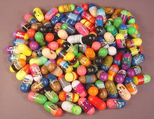 Mighty Beanz Mixed Lot Of 95 No Brand Name, In Used Condition With Some Rubs Or Marks, Jumping Beans