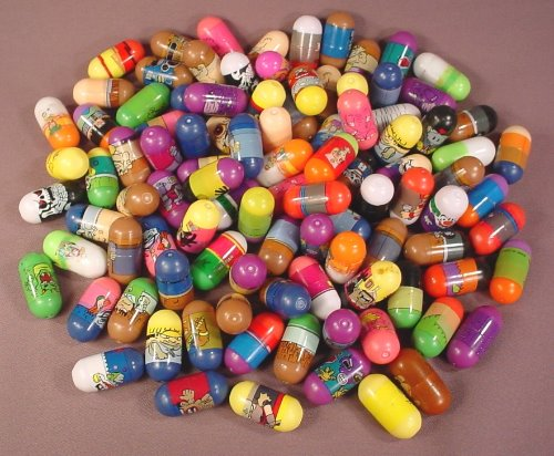 Mighty Beanz Mixed Lot Of 100 No Brand Name, In Used Condition With Some Rubs Or Marks